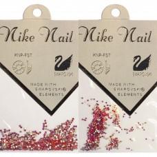 Nike Nail Стразы 720 штук. Красный-розовый AB