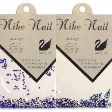 Nike Nail Стразы 720 штук. Синий