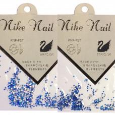 Nike Nail Стразы 720 штук. Синий-голубой AB