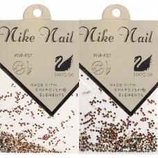 Nike Nail Стразы 720 штук. Зеленый и розовый