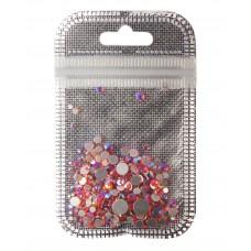 Стразы разноразмерные 250 шт. в пакетике  Розово-Фиолетовый