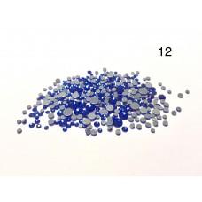 Стразы разноразмерные №12 синий