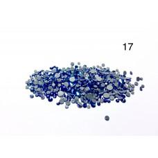 Стразы разноразмерные №17 голубой-синий