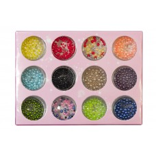 Дизайн 1/12 Nail pearl маленькие и средние, разноцветные