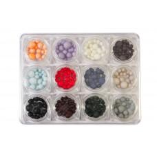 Дизайн 1/12 Nail pearl большие и средние, разноцветные