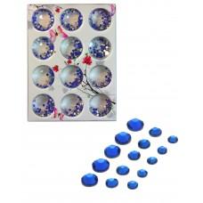 Стразы разноразмерные в коробке 006 Синие