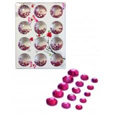 Стразы разноразмерные в коробке 038 Фиолетовые