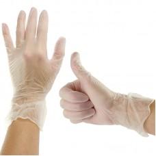 Перчатки виниловые, прозрачные, 50 пар