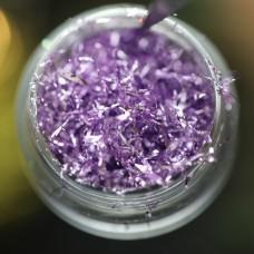 Дизайн Фольга для дизайна Поталь фиолетовая