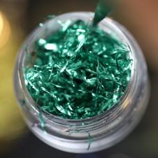 Дизайн Фольга для дизайна Поталь зеленая