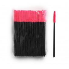 Силиконовые щеточки для ресниц и бровей 50 шт красные