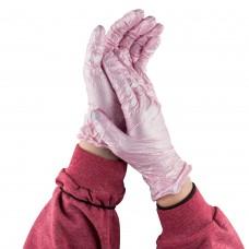 Перчатки нитриловые, розовые Safe Care размер M