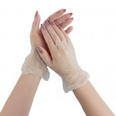 Перчатки виниловые, размер S