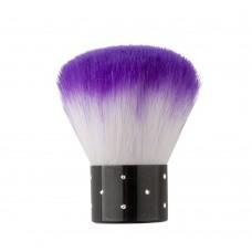 Кисть для макияжа фиолетовая