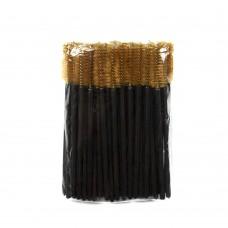 Одноразовые щеточки для ресниц и бровей 50 шт коричневые