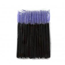 Одноразовые щеточки для ресниц и бровей 50 шт лиловые